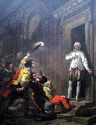 Joseph-Benoit Suvee Admiral de Coligny impressing his murderers oil painting reproduction